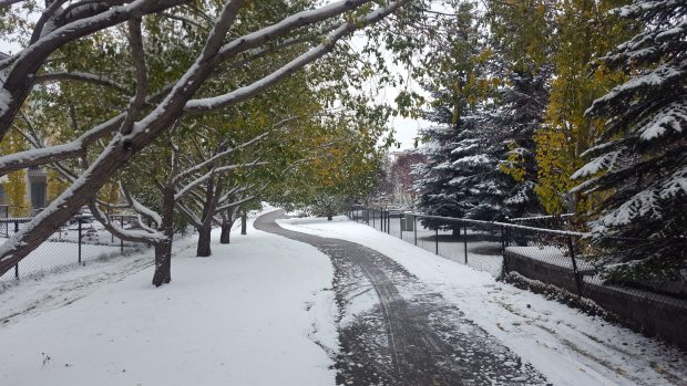 It wouldn't be fall in Calgary without a little snow.