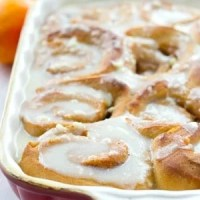 Overnight Orange Cinnamon Rolls with Cream Cheese Icing