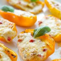 Grilled 3-Cheese Pimento Sweet Pepper Poppers