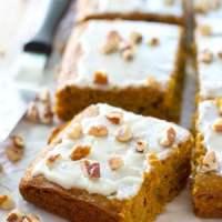Glazed Pumpkin Spice Cake Bars