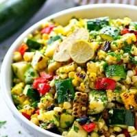 Charred Zucchini Sweet Corn Mexican Salad