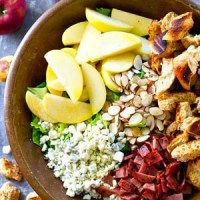 Apple Almond Blue Cheese Salad with Apple Cider Dressing (sponsored by Barber Foods)