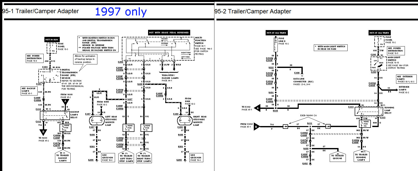 97 ford f 350 trailer wiring diagram