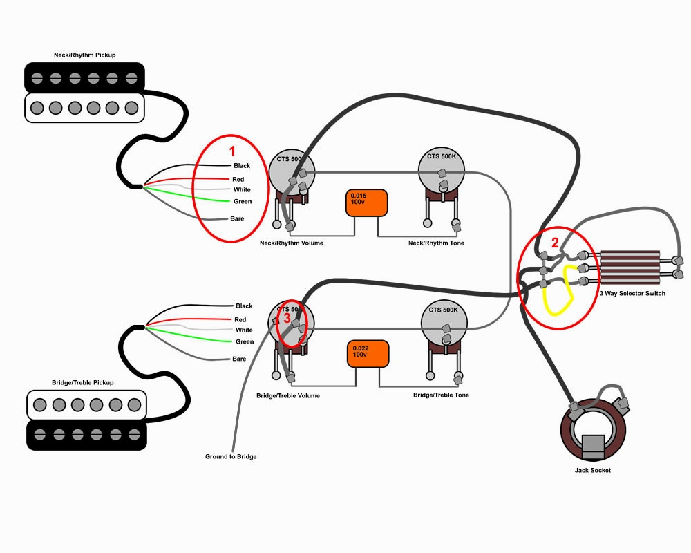 diagrams les paul wiring