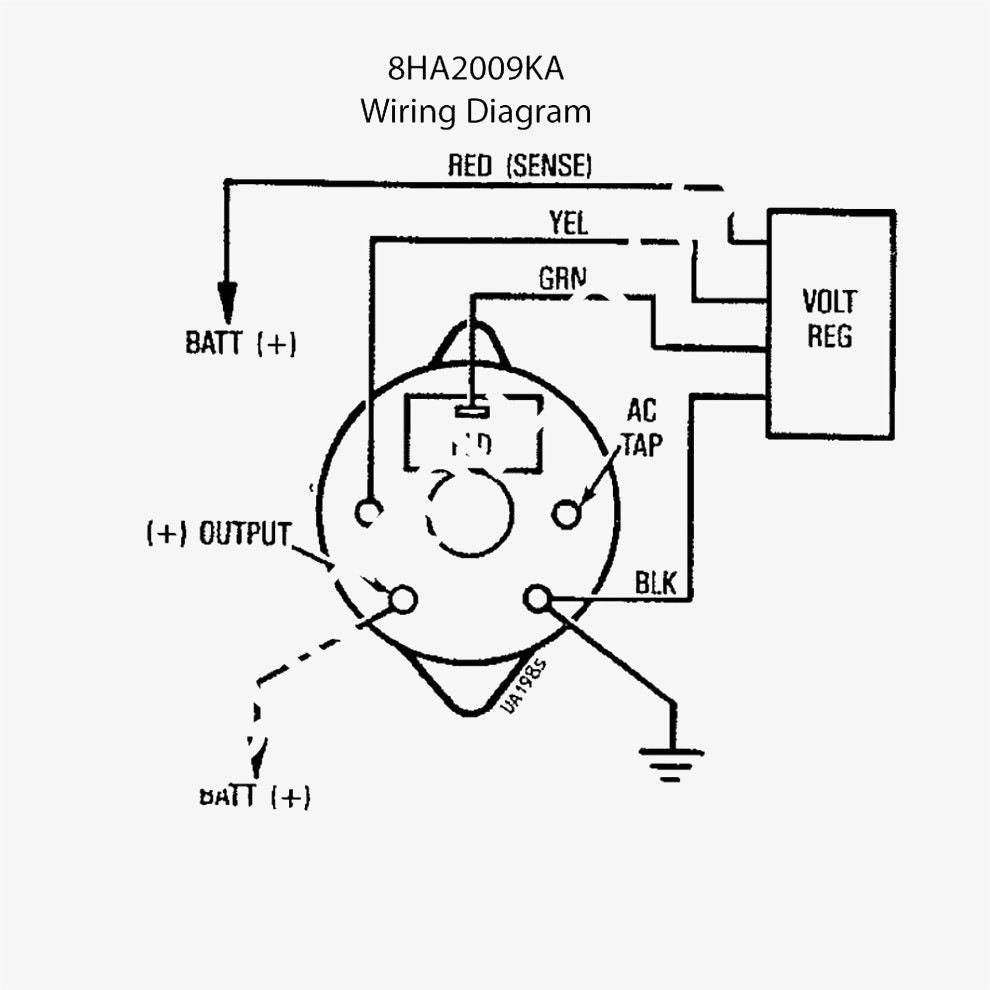 gm alternator wiring diagram for tractor