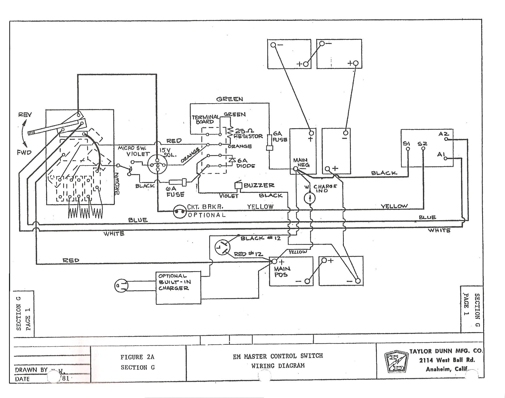 yamaha electric golf cart wiring diagrams