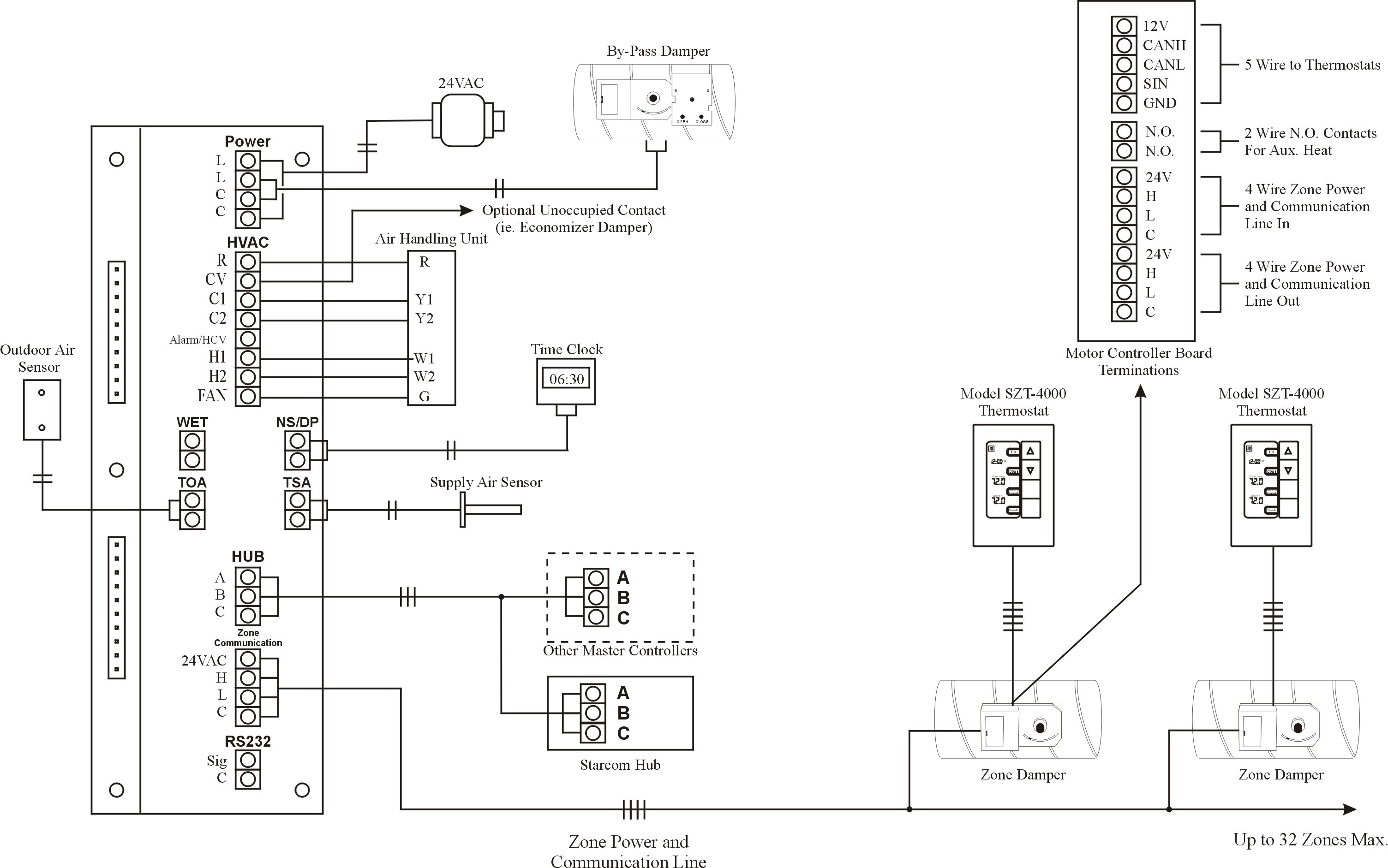 fire damper wiring diagram