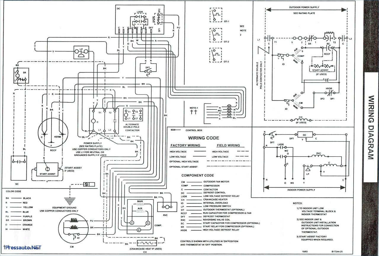 wiring diagram for goodman furnace
