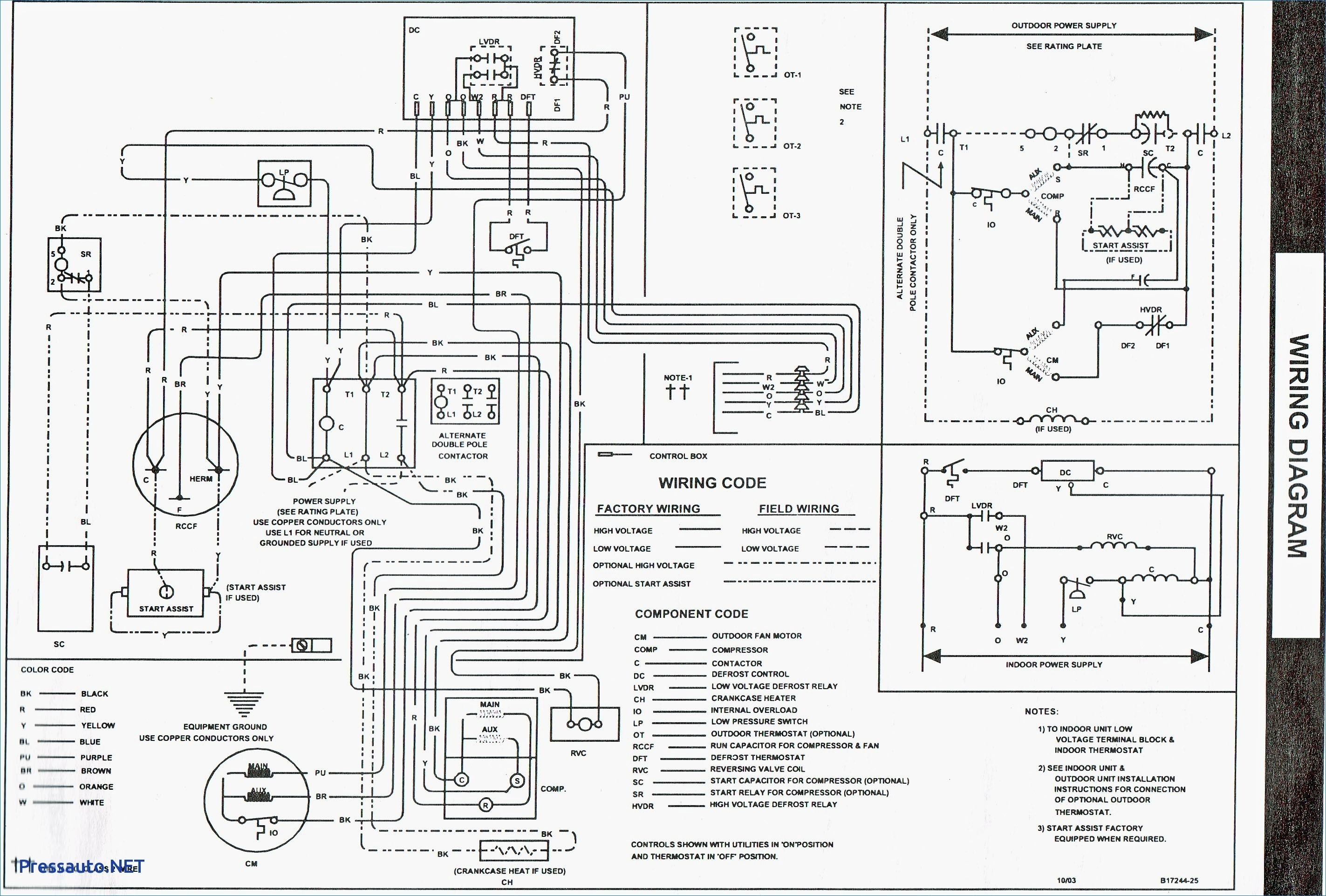 goodman wiring diagram thermostat