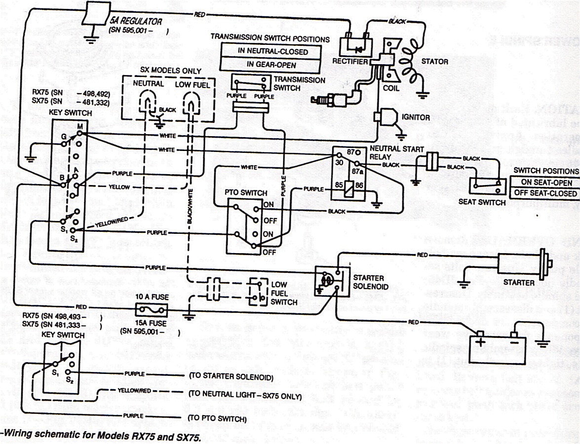 john deere 318 electrical diagram