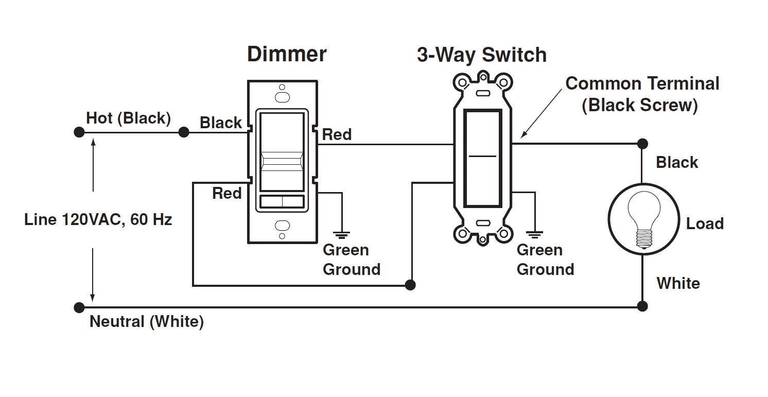 wiring three way switch with dimmer