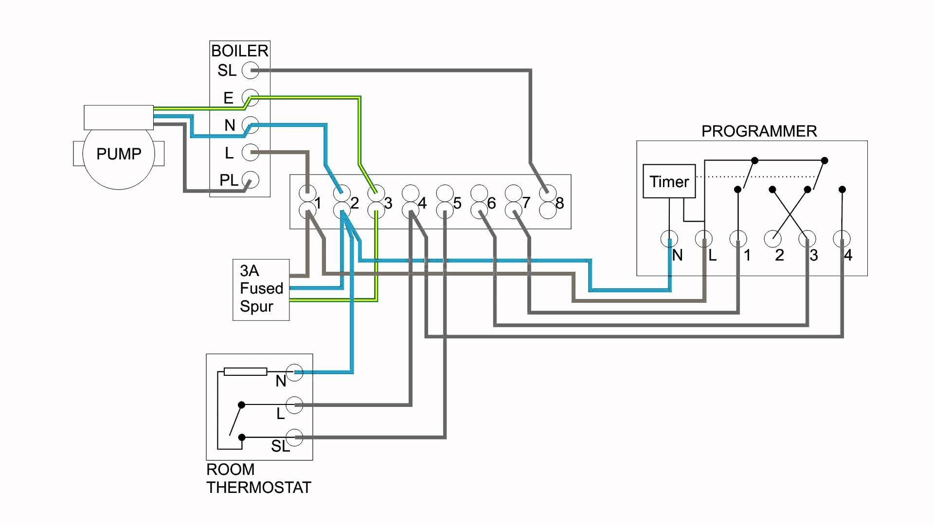wiring diagram for a room thermostat