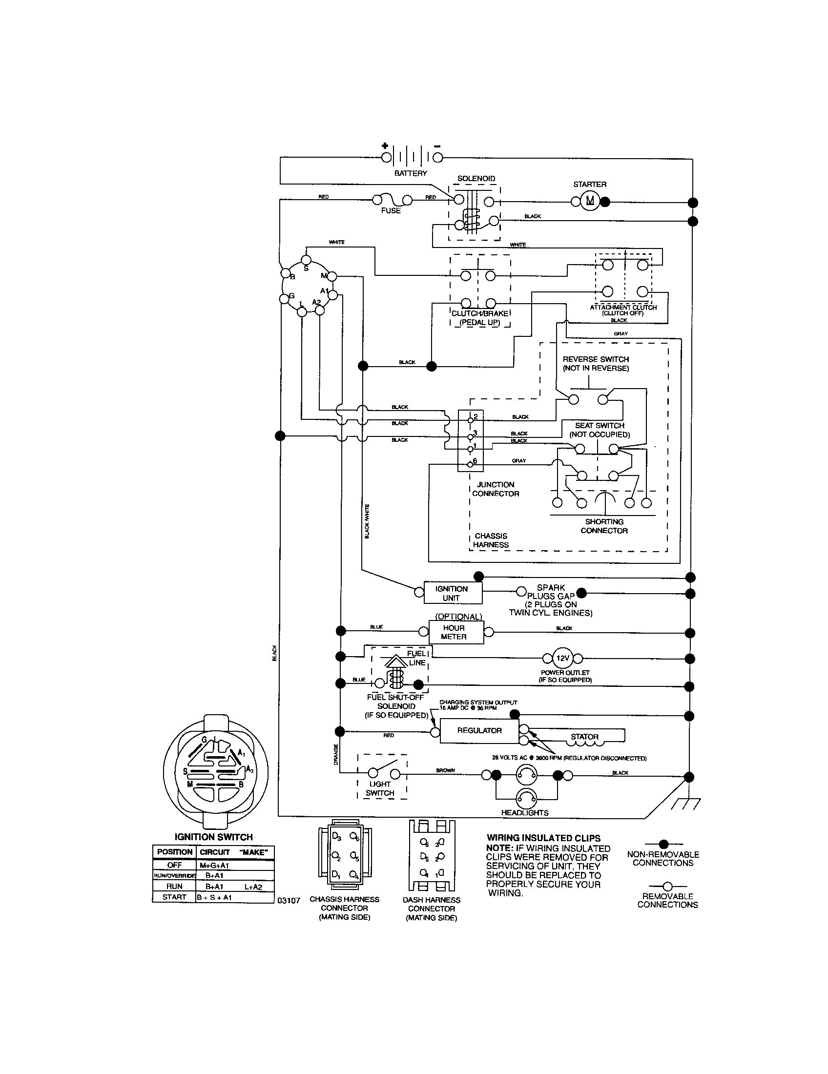 wiring diagram for craftsman lawn tractor