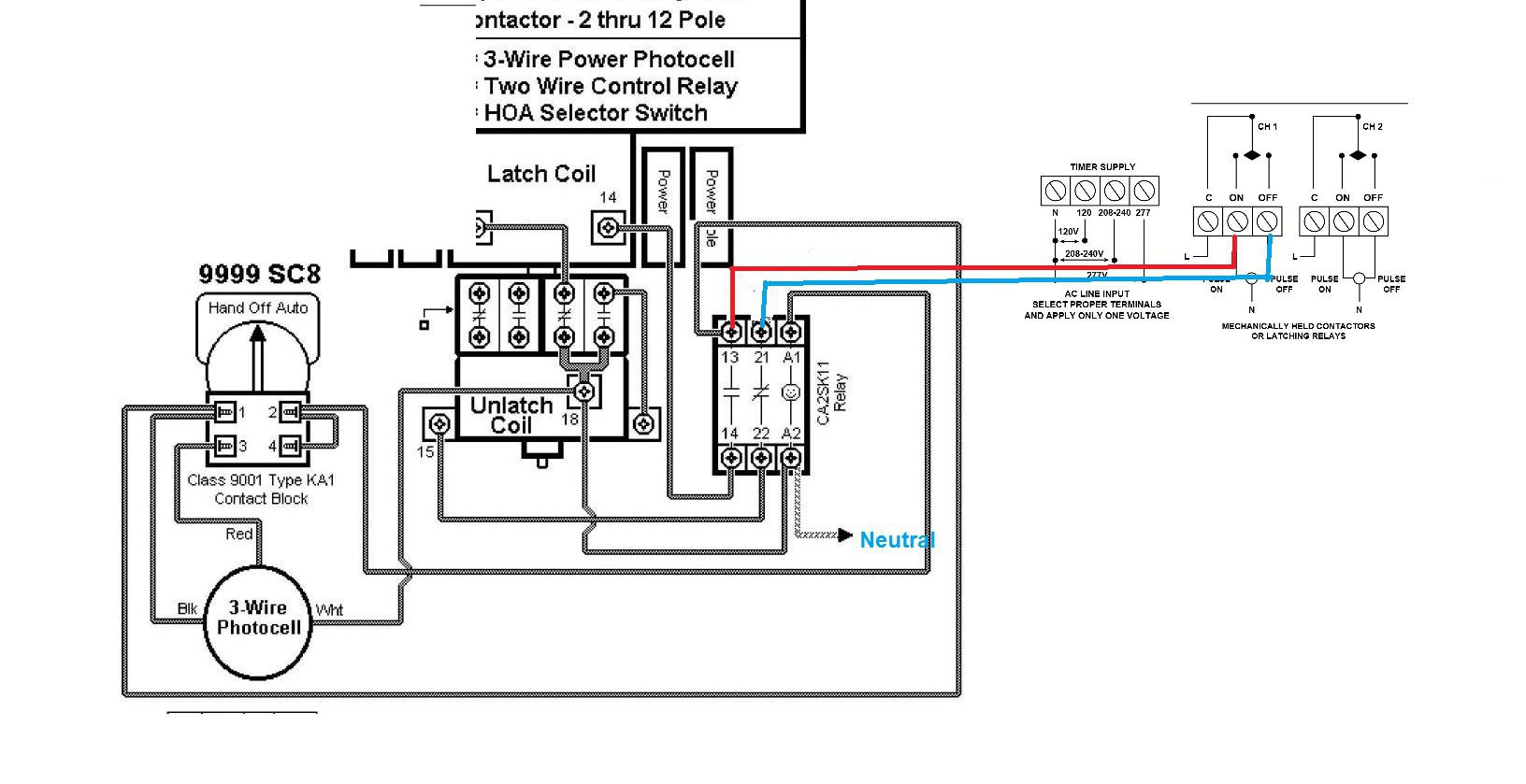 time clock contactor wiring diagram