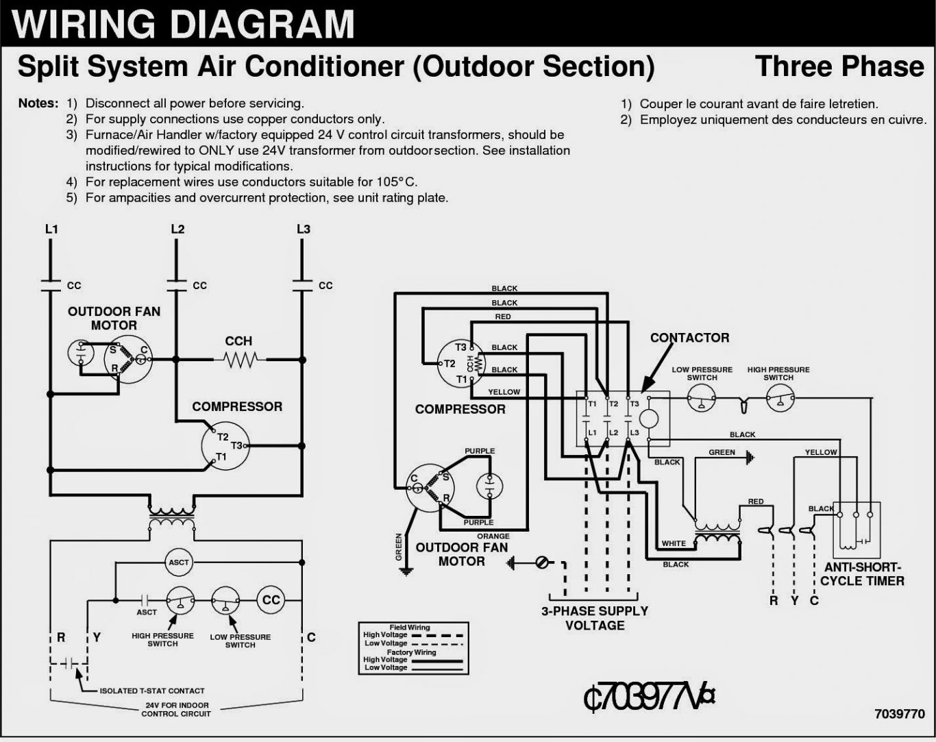 daikin split ac circuit diagram
