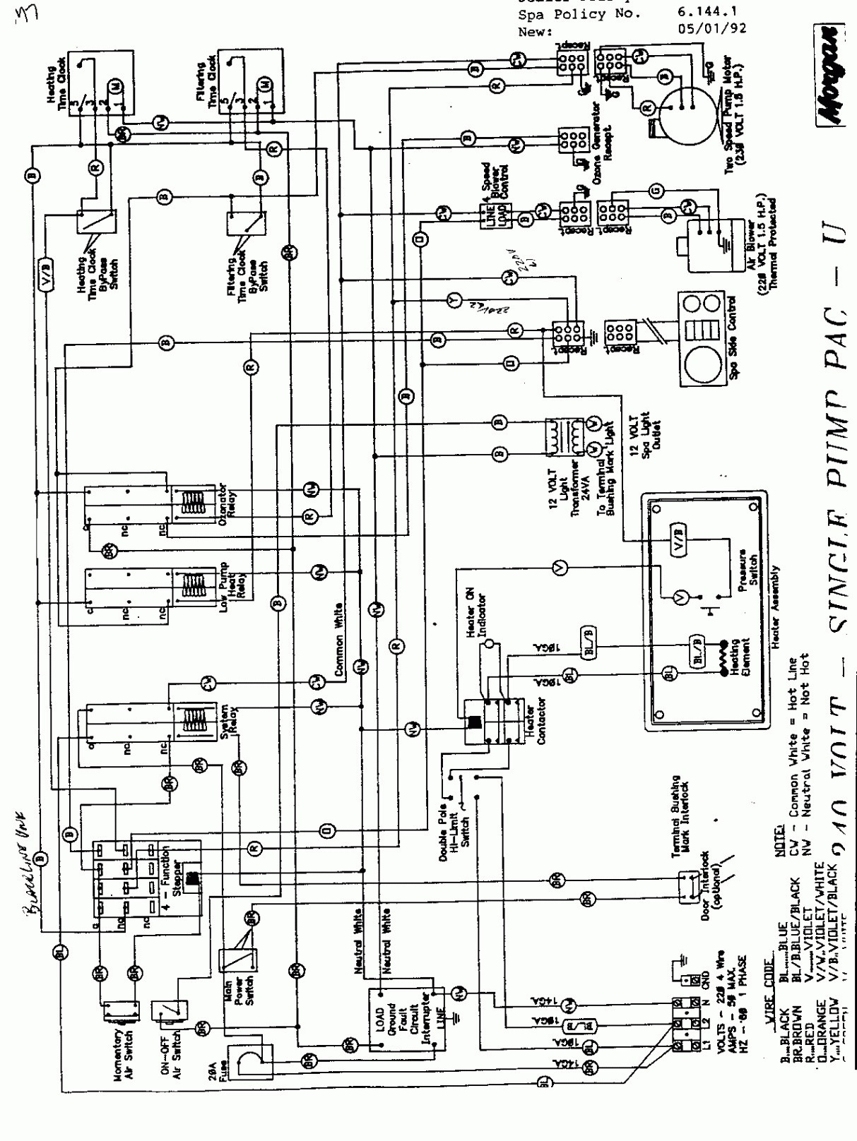 hot tub motor wiring diagram