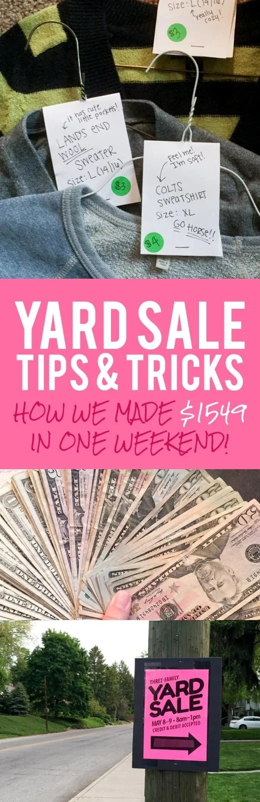 Garage Sale Price Stickers Yard Sale Tips Tricks How We Made 1549