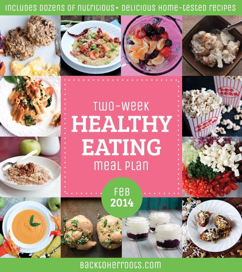 two-week healthy eating meal plan february 2014 - Wholefully - how to plan weekly meals for two