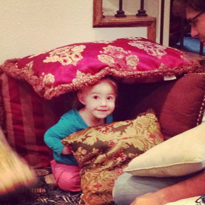 baby EV in a fort