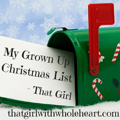 My Grown Up Christmas List