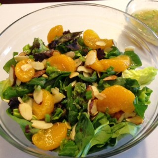 Mandarin Orange Salad with Toasted Almonds