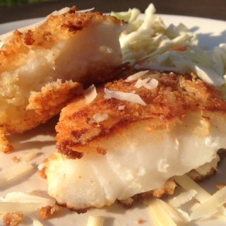 Parmesan and Panko Crusted Cod