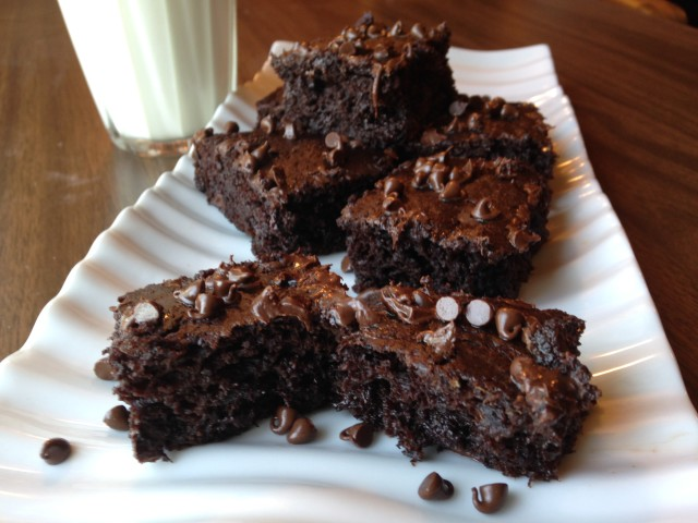Chewy Chocolate Zucchini Brownies