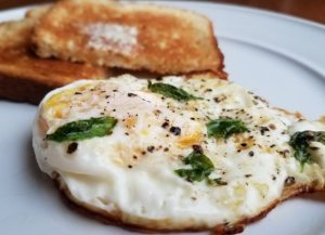 Egg with Basil