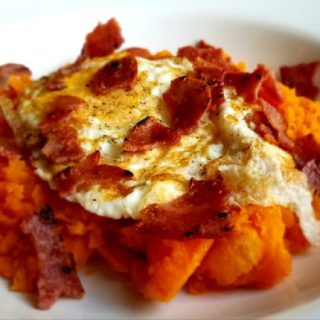 Sweet Potato Egg and Bacon Stack