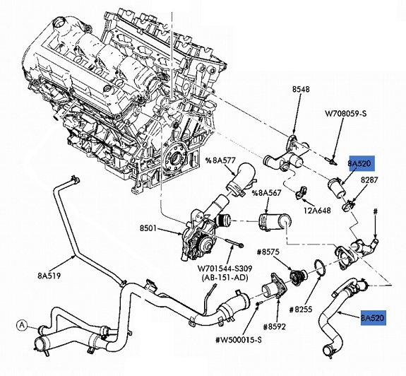 2002 ford focus radiator hose diagram