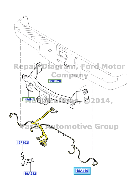 2014 ford explorer trailer hitch wiring harness