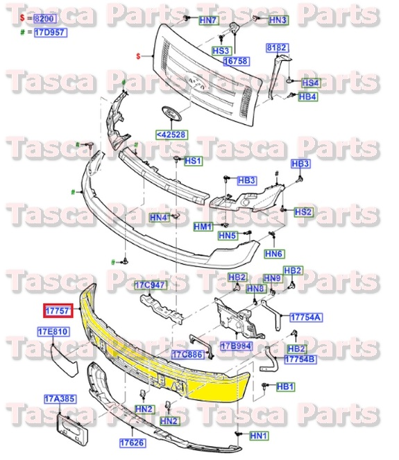 Ford OEM Bumper ASY - Front 9L3Z17757ACP for sale online eBay