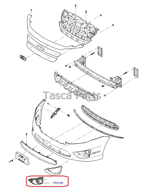 2010 ford fusion body part diagram