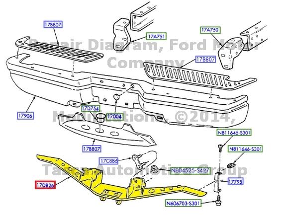 NEW OEM REAR Bumper Reinforcement Hitch Plate Ford F150 F250 #f65Z