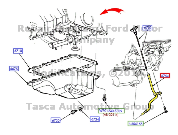 1999 4 6l mustang Motordiagramm