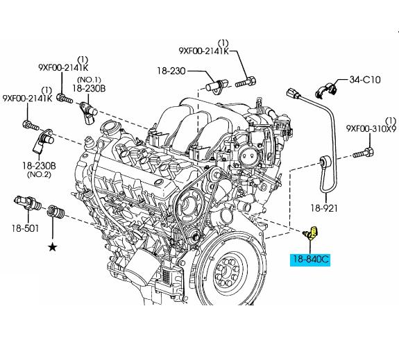 mazda engine coolant temperature sensor