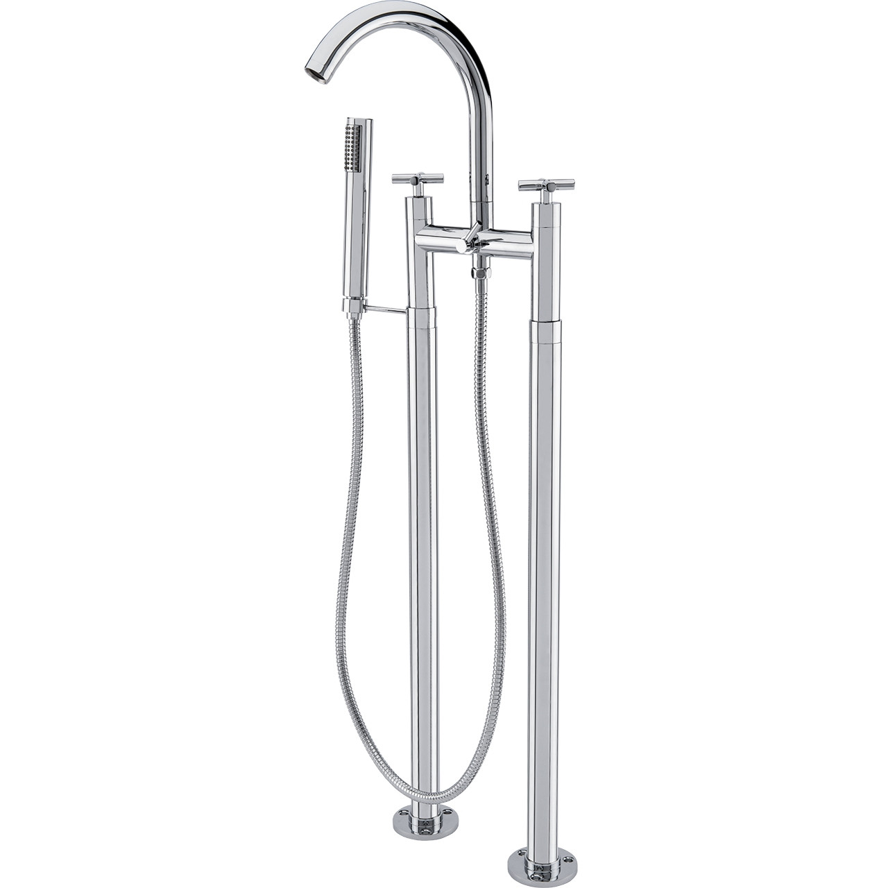 Freestanding Bath Taps Cross Freestanding Bath Shower Mixer Tap