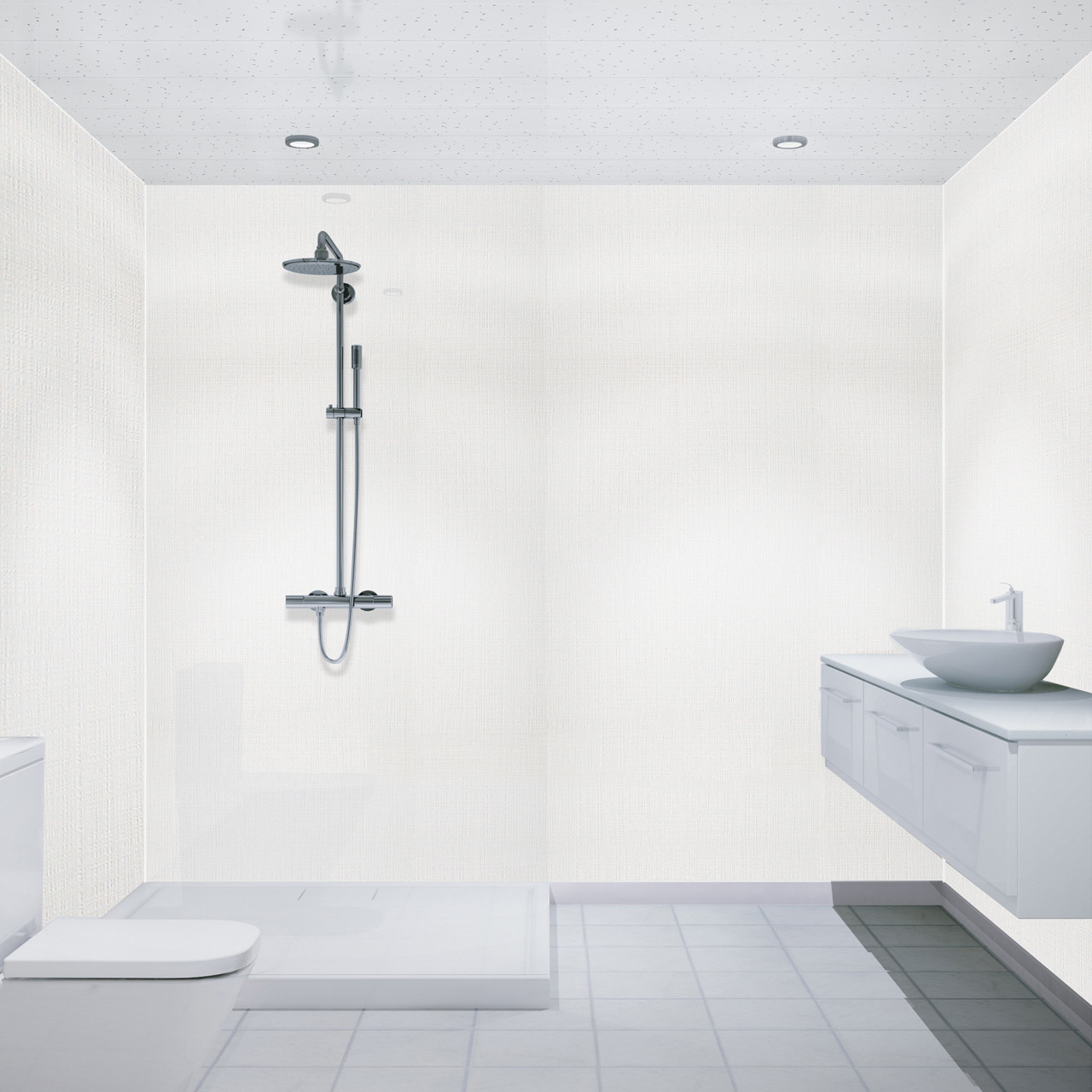 Multipanel White Sparkle 2700mm X 250mm Bathroom Ceiling Panels
