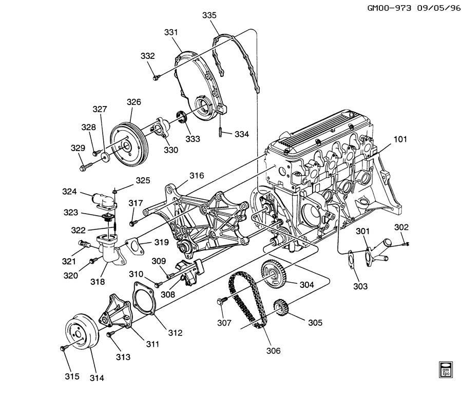 1995 chevy s10 2.2 engine diagram