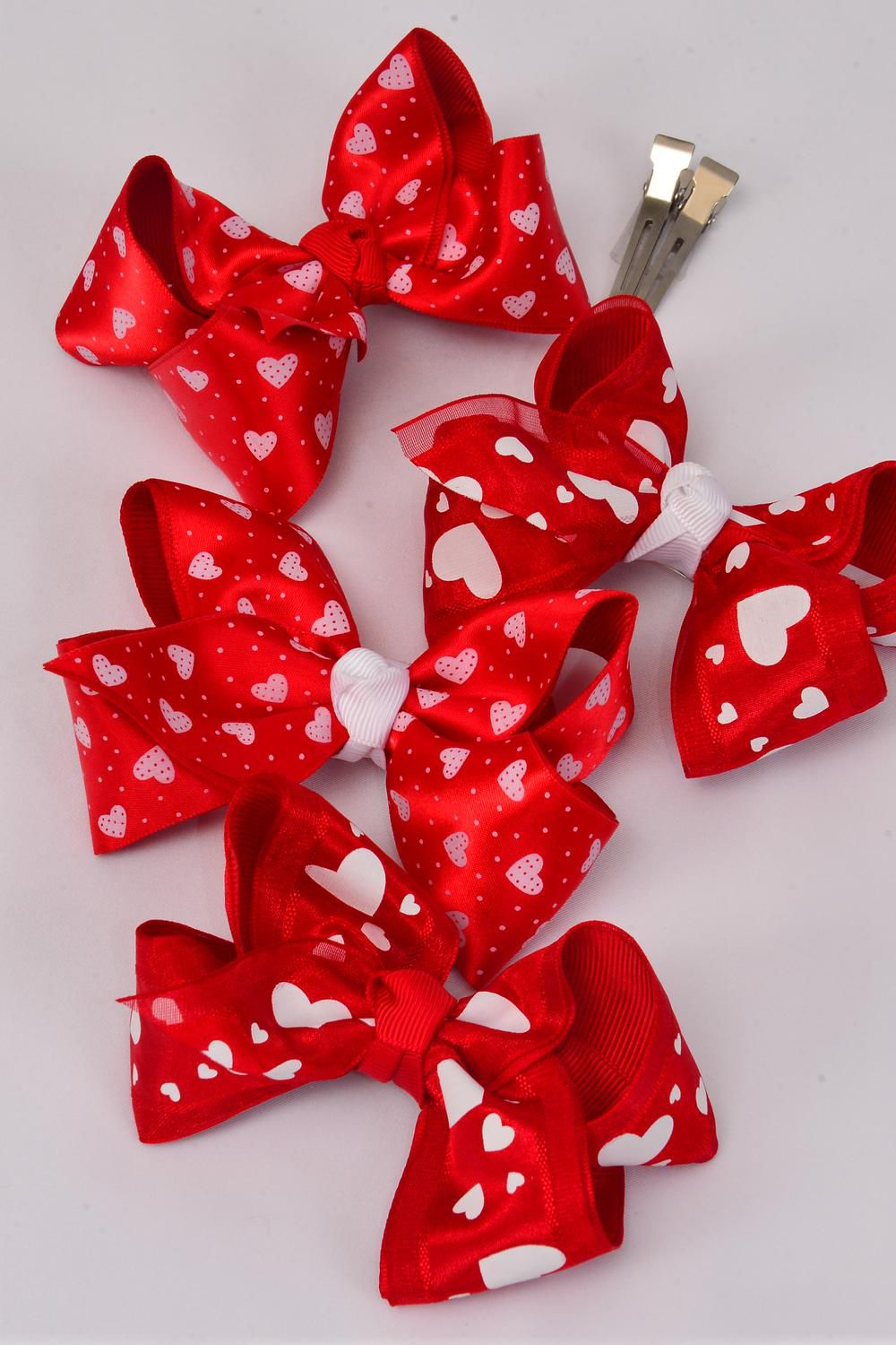 Wholesale Western Jewelry Supplies Hair Bow Large Valentines Bow Tie Double Grosgrain Satin