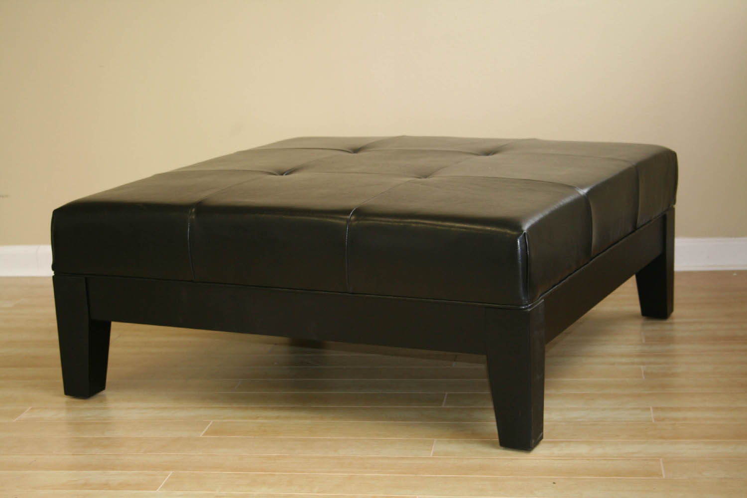 Ottoman Coffee Table Black Black Ottoman Leather Cocktail Ottoman Modern Coffee Table