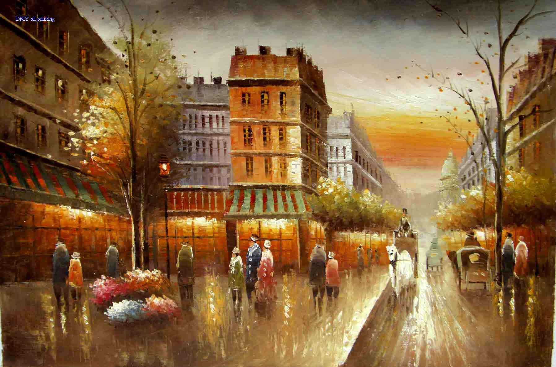 Painting S Oil Paintings Modern City Streets Wholesale Oil