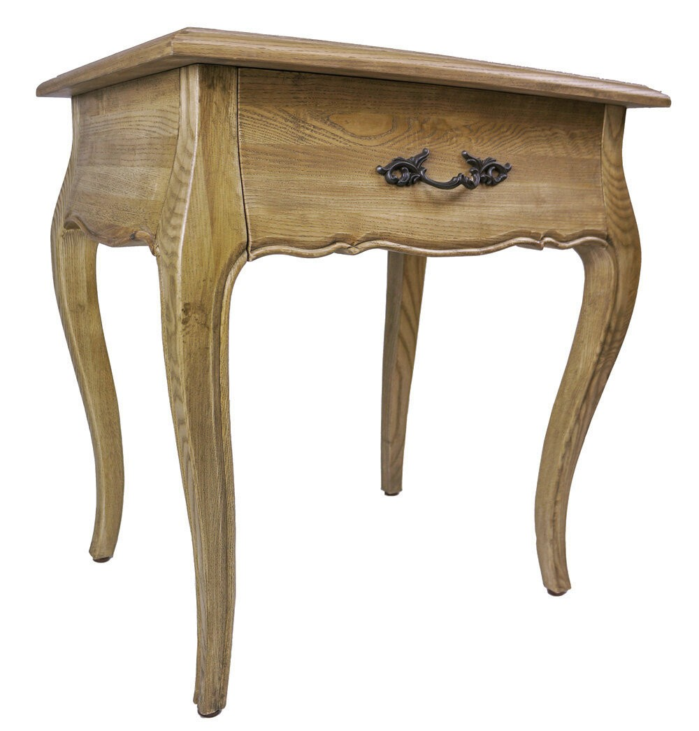 Provincial Bedside Tables French Provincial Bedside Table With One Drawer Natural Oak