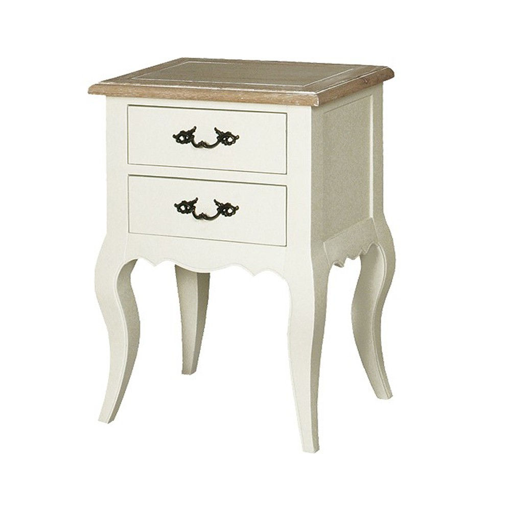 Provincial Bedside Tables French Provincial Classic White Bedside Lamp Table With 2 Drawers