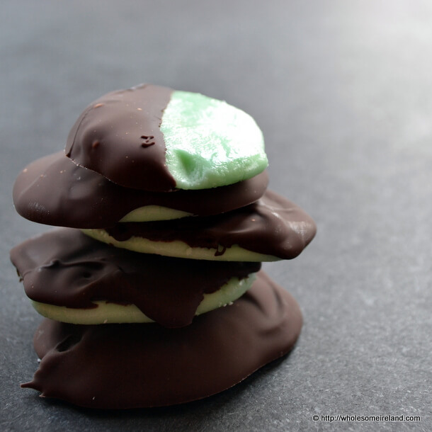 Mint Chocolate Thins For St Patrick's Day