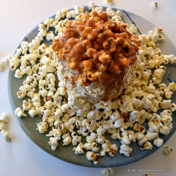 Salted Caramel Popcorn Cake from Wholesome Ireland - Irish Food & Parenting Blog