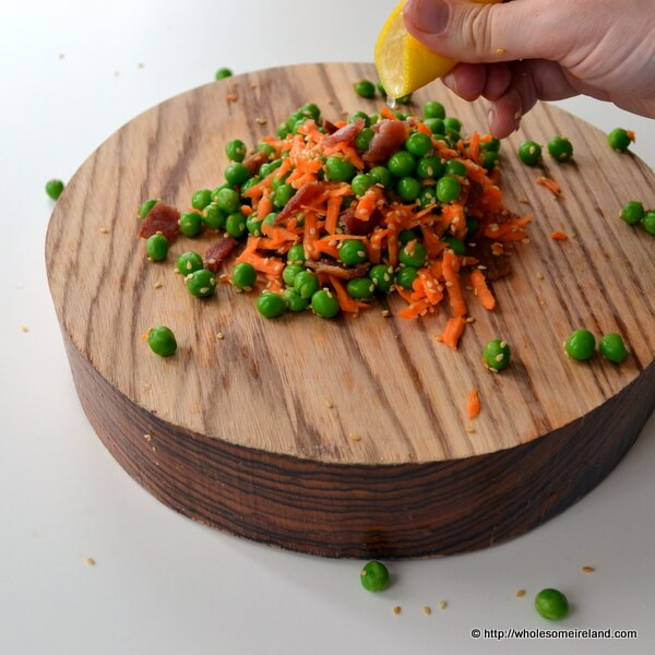 Pea salad - real fast food in less than 7 minutes.