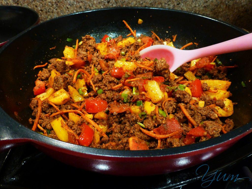 Beef Taco Veggie Skillet (Paleo, Gluten Free) | Wholesome Yum