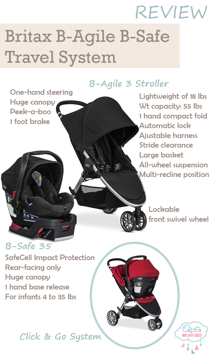Top Lightweight Travel System Strollers The Most Complete Britax B Agile B Safe Travel System Review