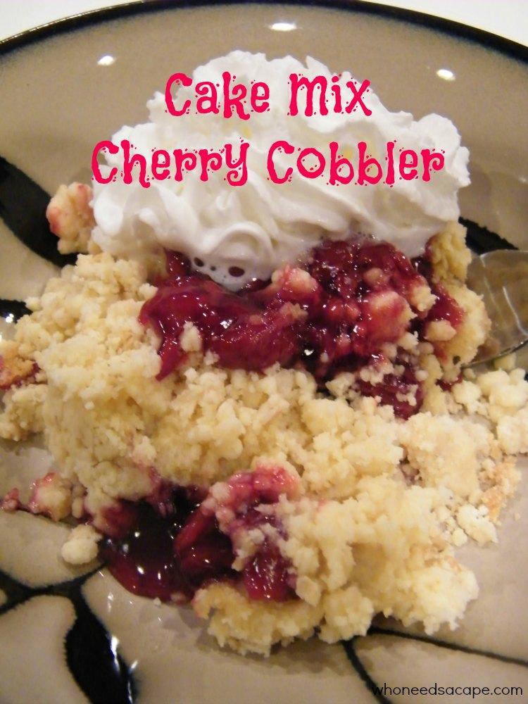 Cake Mix Cherry Cobbler Who Needs A Cape